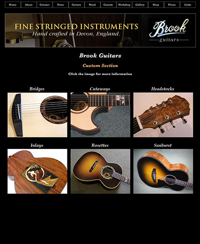Brook Guitars New Website Design