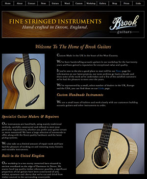 Brook Guitars New Website